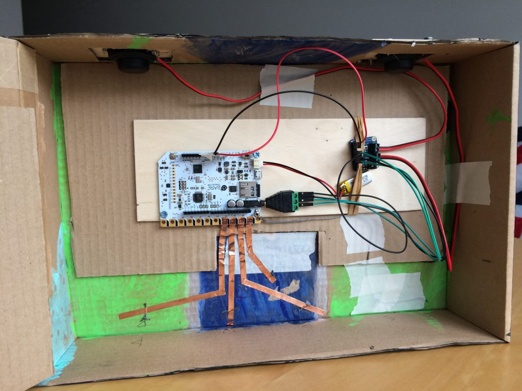 The project components and wiring.
