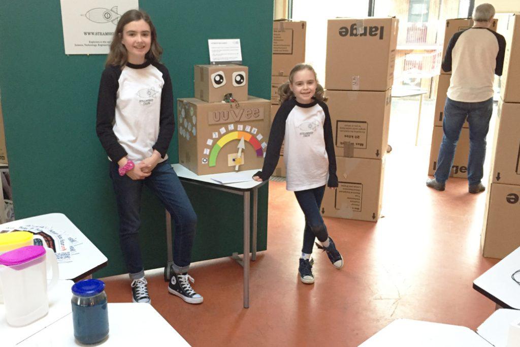 Girls with UUVEE robot